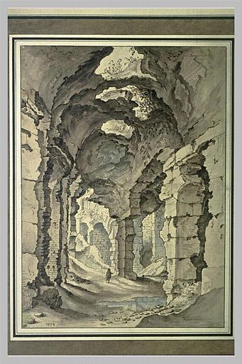 Ruines d'une vaste galerie