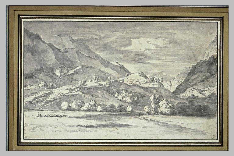 Paysage composé de montagnes ardues