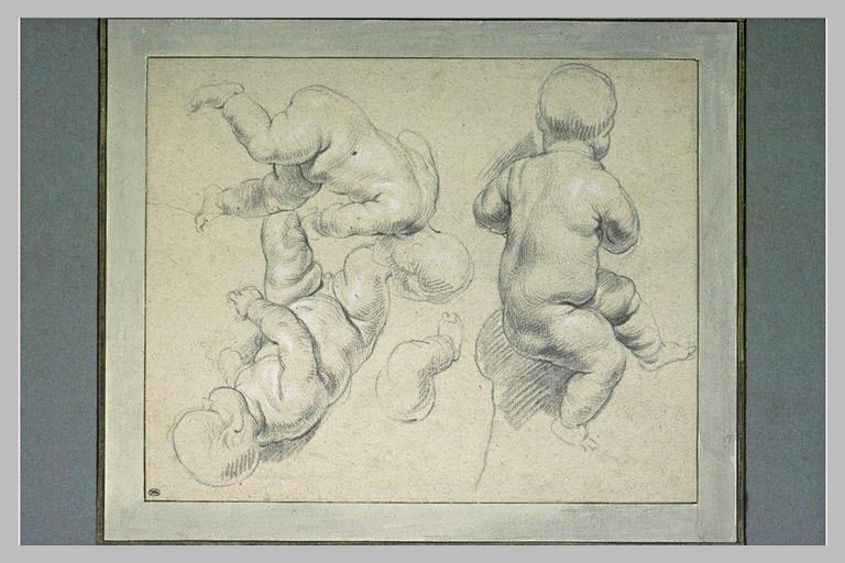 Trois études d'enfant nu et étude d'une jambe