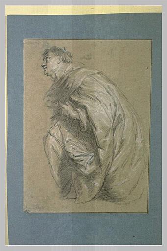 Herman Joseph le béatifié, agenouillé