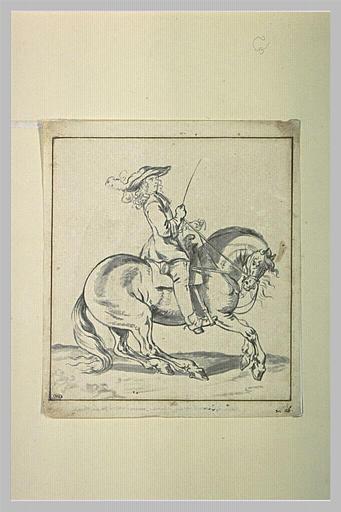 Cavalier galopant vers la droite