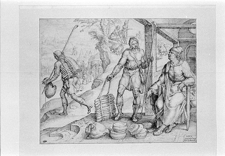 Isaï renvoyant David dans le camp de Saül