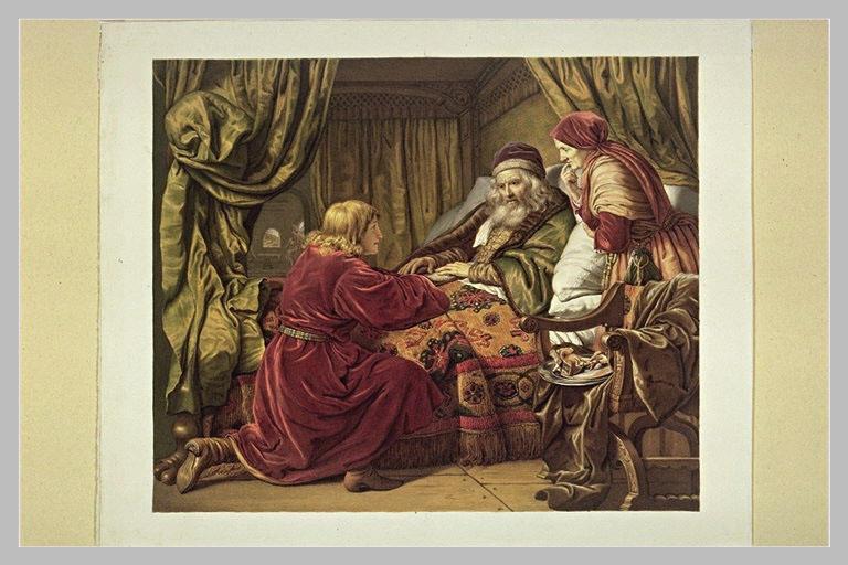 Jacob recevant la bénédiction d'Isaac