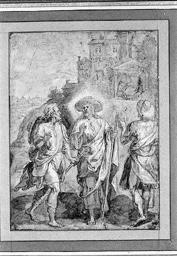 Le Christ et les pélerins d'Emmaüs