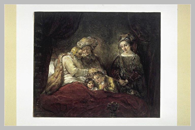 Jacob bénissant les enfants de Joseph