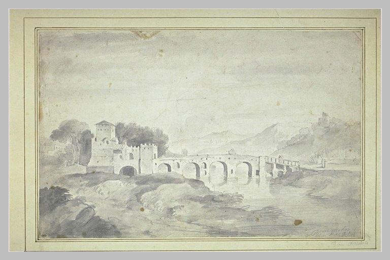 Vue du Ponte Molle près de Rome