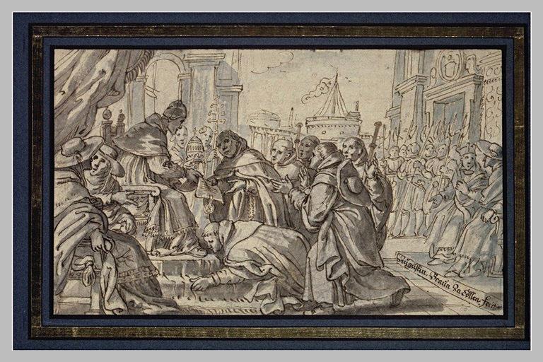 Le pape Honorius III approuvant la charte des Dominicains