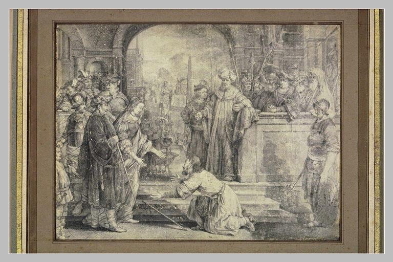 Mardochée aux pieds d'Esther, implorant la grâce des Juifs