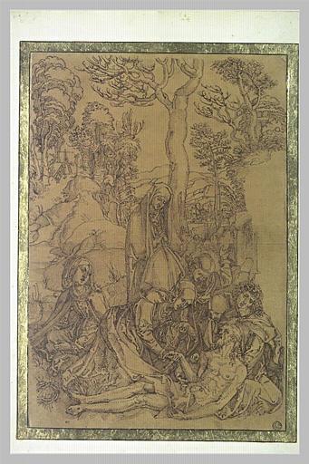 Le Christ pleuré par la Vierge, saint Jean et les Saintes Femmes