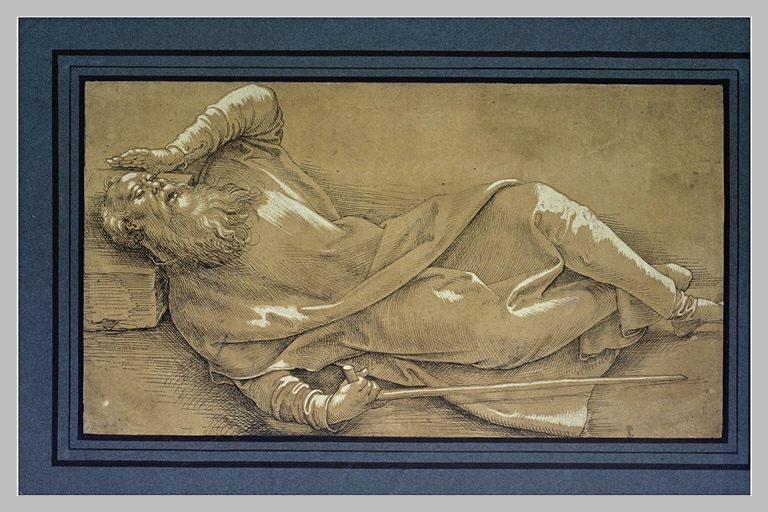 Saint Antoine couché sur le dos