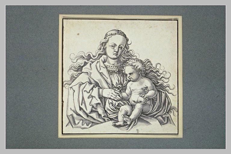 La Vierge avec l'Enfant Jésus sur les genoux