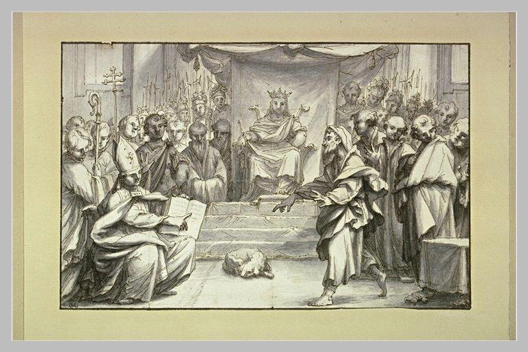 Discussion théologique devant un roi