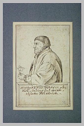 Portrait de Hieronymus Bock, en latin Tragus