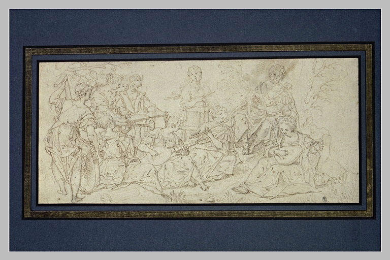 Concert des Muses devant Apollon
