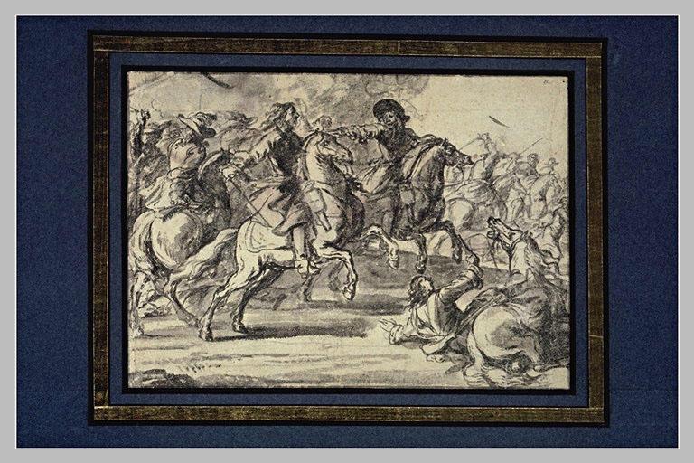 Un combat de cavalerie