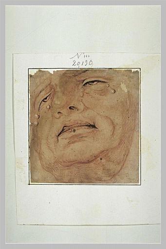 Masque d'homme âgé, pleurant_0