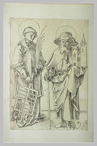 Saint Laurent et saint Sebald, patrons de Nuremberg