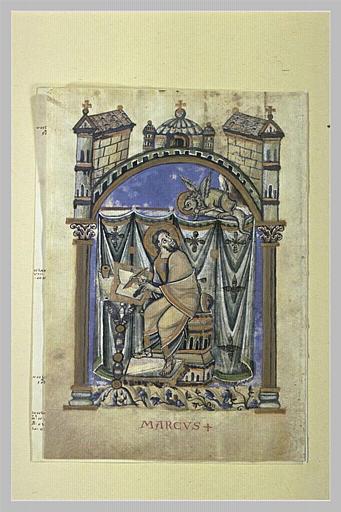 Page d'évangéliaire : saint Marc