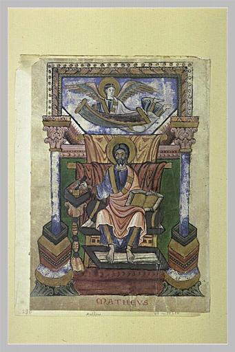 Page d'évangéliaire : saint Matthieu