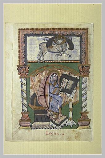 Page d'évangéliaire : saint Luc