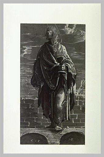 L'apôtre saint Jean debout, tenant un calice