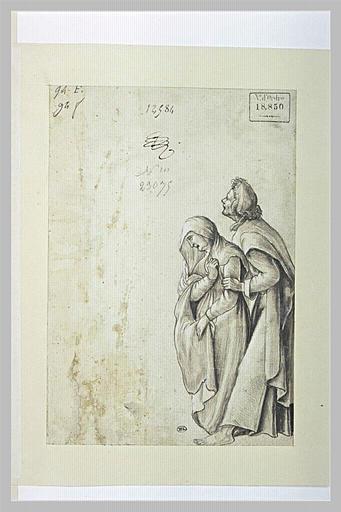 Saint Jean soutenant la Sainte Vierge