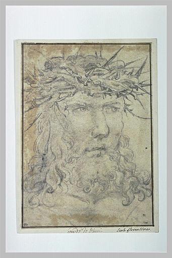 Tête de Christ couronné d'épines