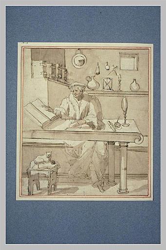 Un savant dans son cabinet d'étude