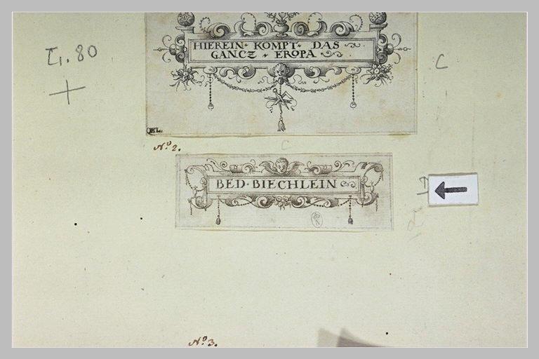 Cartouche où il est écrit : BED. BIECHLEIN