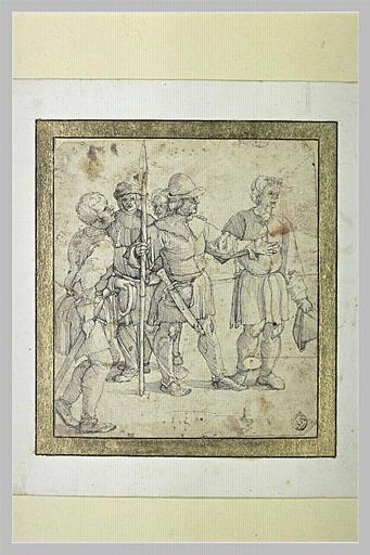 Groupe de cinq hommes armés