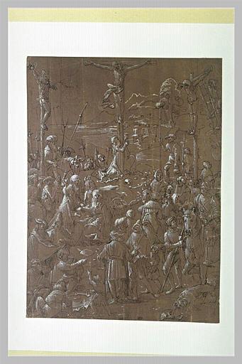 Le Christ entre les deux larrons sur le Mont Golgotha