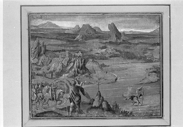 Paysage avec saint Christophe traversant la rivière_0