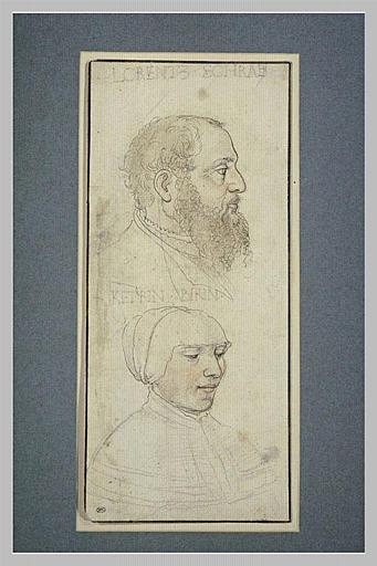 Portraits de Lorentz Schrab et de Ketrin Birin