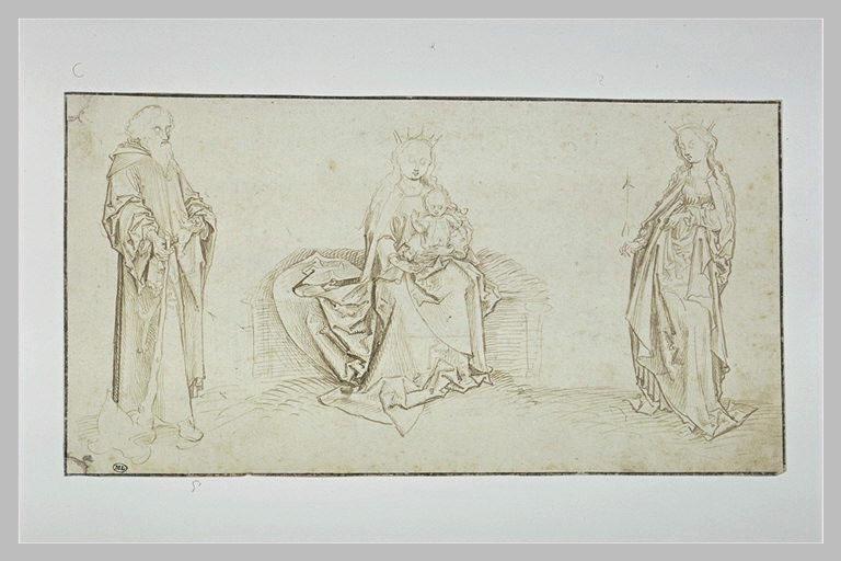 Etudes de saint Jacques, la Vierge et sainte Ursule