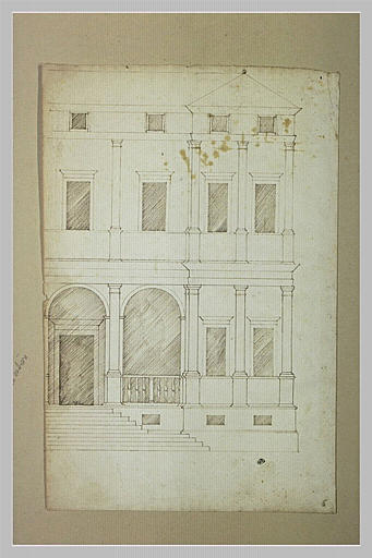 Moitié droite d'une façade de palais