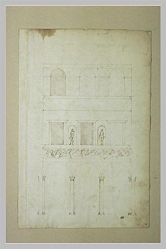 Fragment de la façade du palais Spada à Rome_0