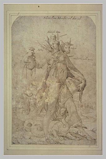 Figure allégorique : l'Hérésie