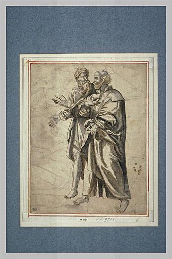 Saint Pierre et saint Paul se dirigeant vers la gauche_0