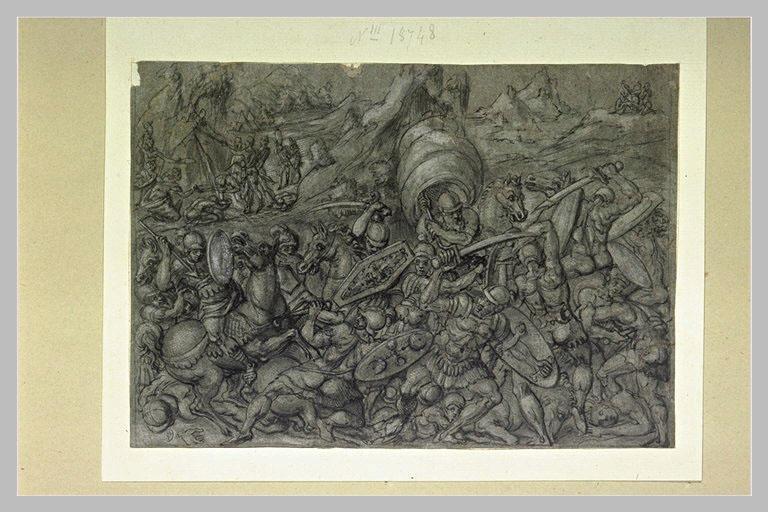Combat des Juifs et des Amalécites pendant la marche vers la terre promise