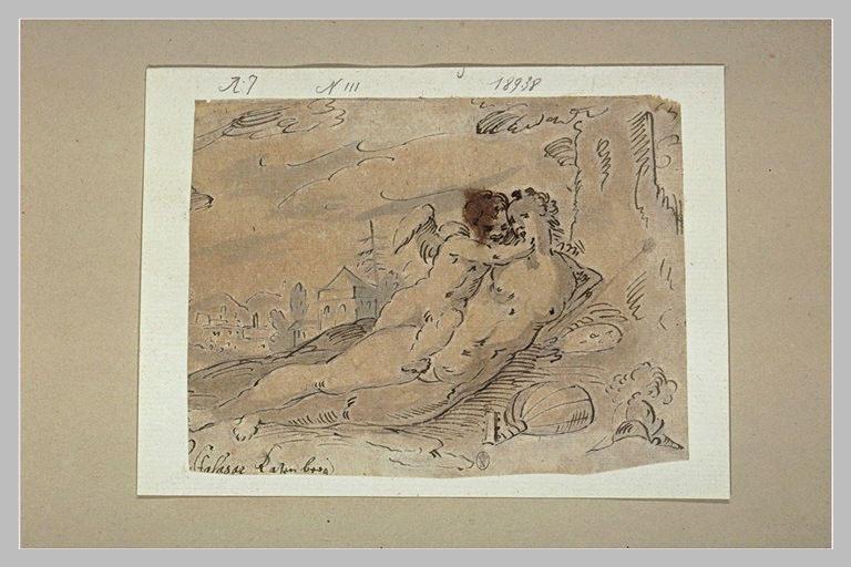 Vénus et l'Amour au pied d'un arbre