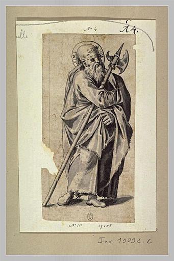 Saint Siméon debout tenant une hallebarde