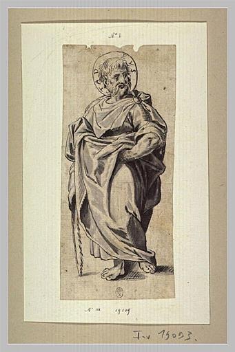 Saint Thaddée debout, regardant à droite