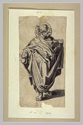Saint Matthieu, un livre à la main
