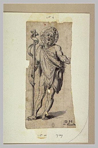 Saint Jean-Baptiste debout, vu de face