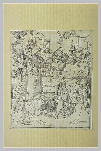 Salomé recevant du bourreau la tête de saint Jean-Baptiste
