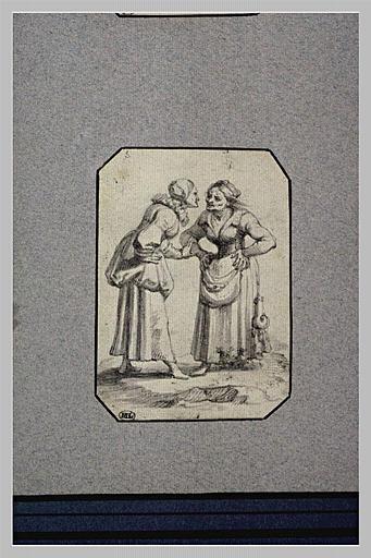Deux vieilles femmes se disputant