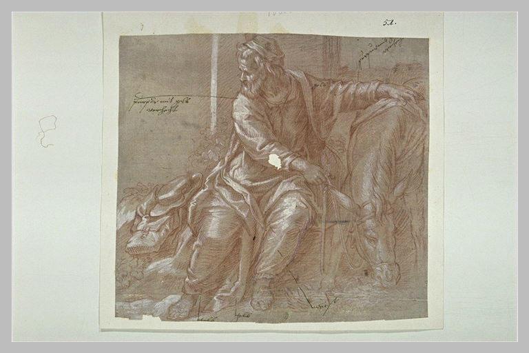 Saint Joseph pendant le repos de la Fuite en Egypte