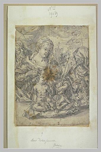 La Sainte Famille, sainte Elisabeth et saint Jean-Baptiste