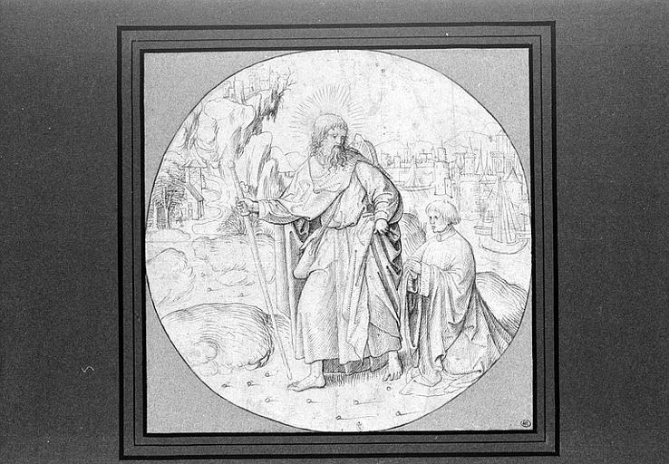 L'apôtre saint Jacques et l'un de ses dévots_0