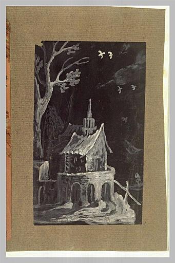 Un arbre et une petite église